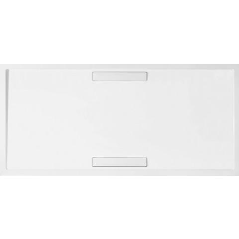 Villeroy & Boch Squaro douchebak 180x90x1,8cm.met afvoer + ondersteuning wit