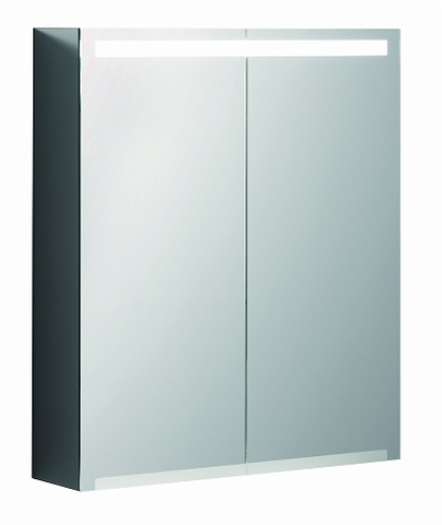 Geberit Option spiegelkast led verlichting 2 deuren 60x70x15cm