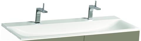 Geberit Xeno2 wastafel composiet 140cm 2 kraangaten zonder overloop wit