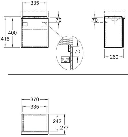 Geberit Icon fonteinonderkast met deur 37cm mat wit mat wit