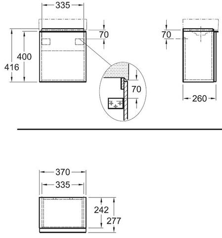 Geberit Icon fonteinonderkast met deur 37cm glans wit glans wit