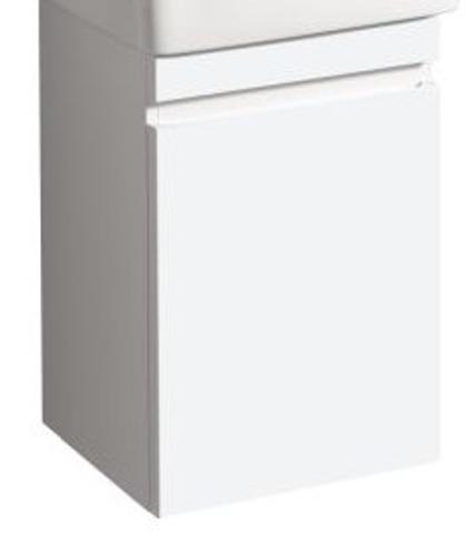 Geberit Renova Plan fonteinonderkast met deur 41,4cm deur glans wit glans wit