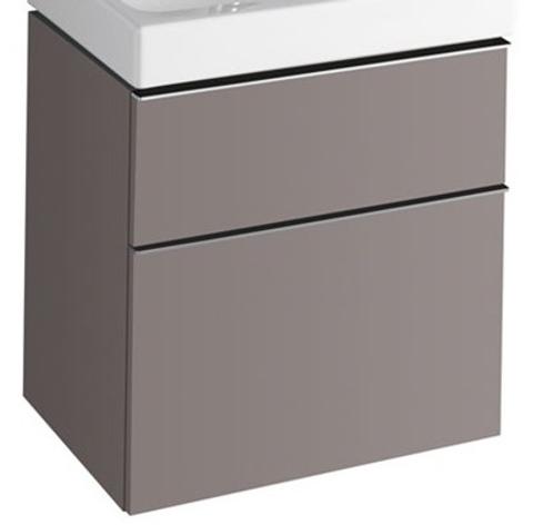 Geberit Icon wastafelonderkast 2 laden 59,5x62cm platina platina