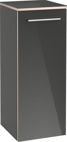 Villeroy & Boch Avento hh kast 350x370x892 deur scharn.links 2xplanchet crystal white