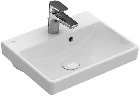 Villeroy & Boch Avento fontein 45x37cm.1x kraangat m/overloop c+ wit