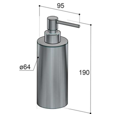 Hotbath Archie ARA10 zeepdispenser vrijstaand RVS 316