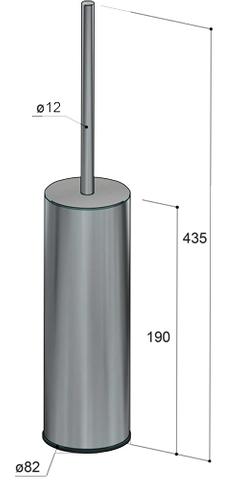 Hotbath Archie ARA12 toiletborstelhouder vrijstaand RVS 316