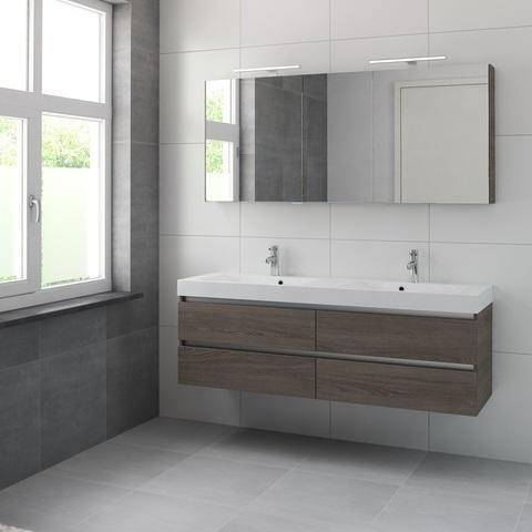 Bruynzeel Palitano meubelset spiegelkast 160cm orlando eiken