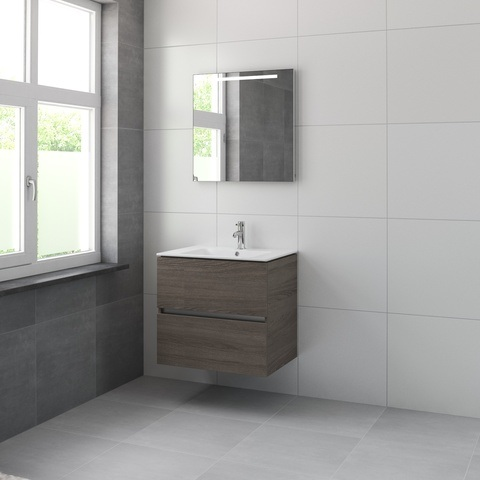 Bruynzeel Miko meubelset spiegel 70cm orlando eiken