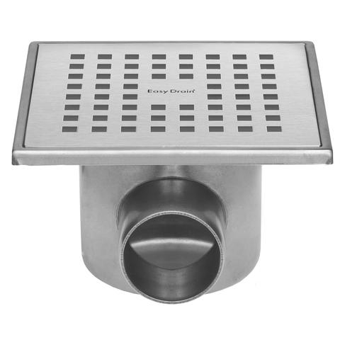 Easydrain Aqua Plus Quattro vloerput rvs 15 x 15 cm. horizontaal rvs