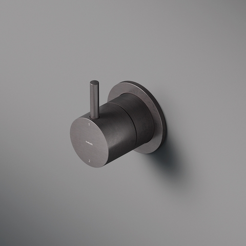 Hotbath Cobber CB011 afbouwdeel 2-weg omstel geborsteld nikkel
