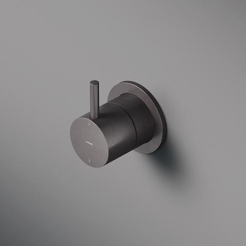 Hotbath Cobber CB011 afbouwdeel 2-weg omstel zwart chroom