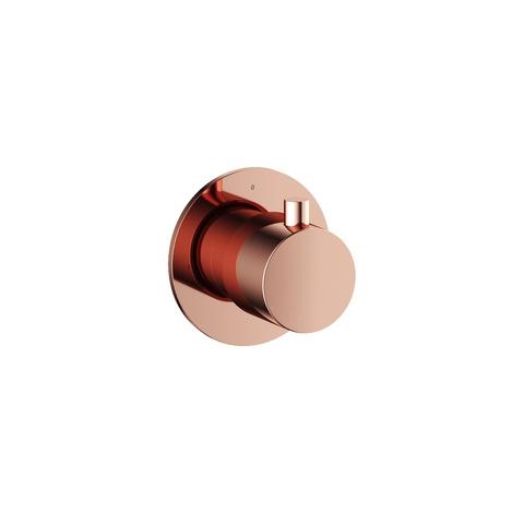 Hotbath Cobber CB010 afbouwdeel stopkraan cold roze goud