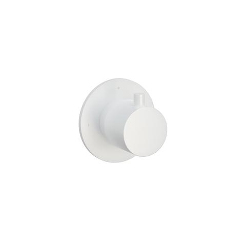 Hotbath Cobber CB010 afbouwdeel stopkraan hot mat wit