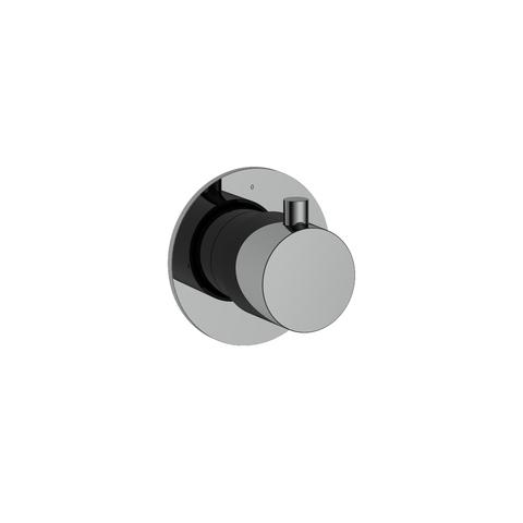 Hotbath Cobber CB010 afbouwdeel stopkraan hot zwart chroom