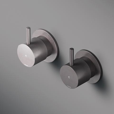 Hotbath Cobber CB010 inbouw stopkraan geborsteld nikkel hot