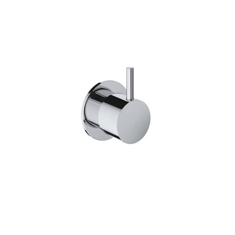 Hotbath Cobber CB010 inbouw stopkraan zwart chroom hot