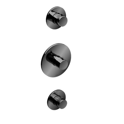 Hotbath Cobber CB007 Inbouwthermostaat met 2 stopkranen zwart chroom