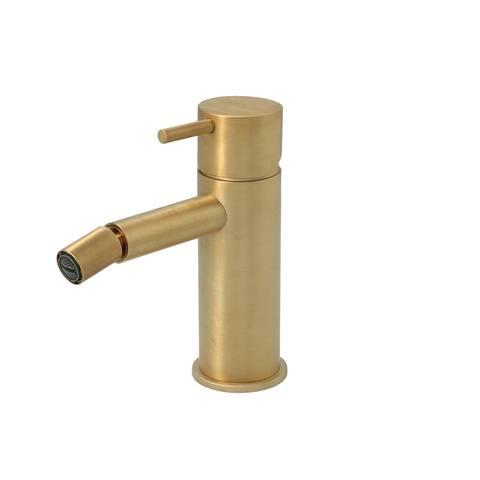 Hotbath Cobber CB018 bidetmengkraan zonder waste geborsteld messing