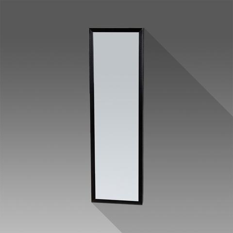 Bewonen Silhouette spiegel met aluminium frame zwart 25x80 cm