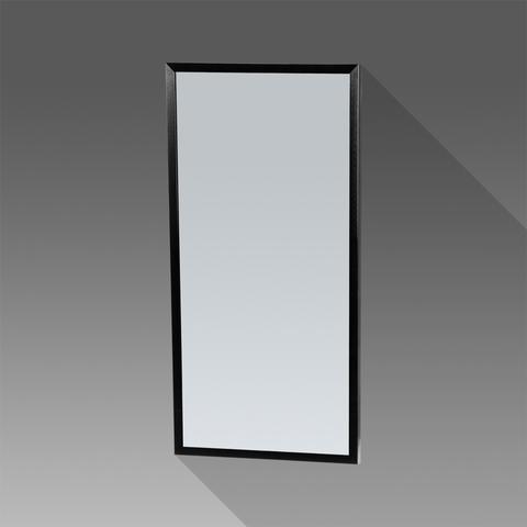 Bewonen Silhouette spiegel met aluminium frame zwart 40x80 cm