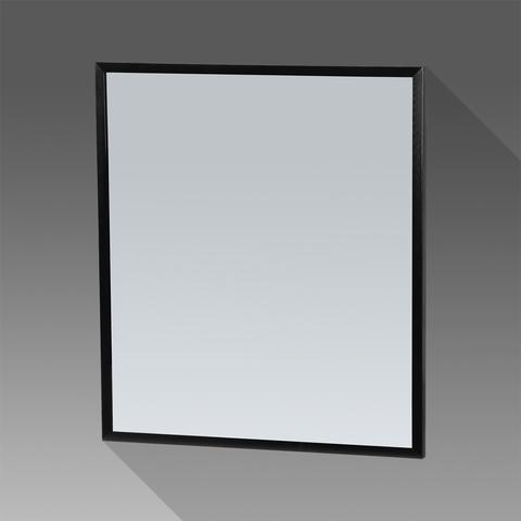 Bewonen Silhouette spiegel met aluminium frame zwart 58x70 cm