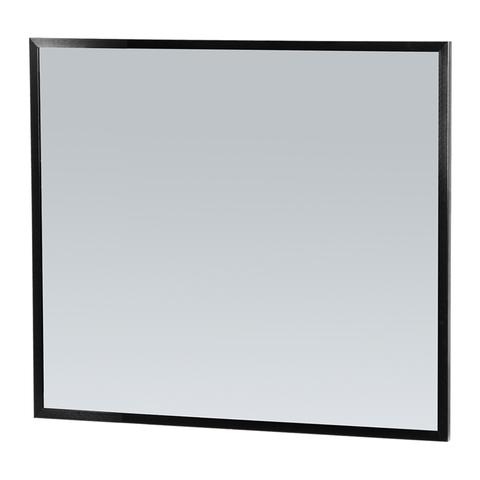 Bewonen Silhouette spiegel met aluminium frame zwart 80x70 cm