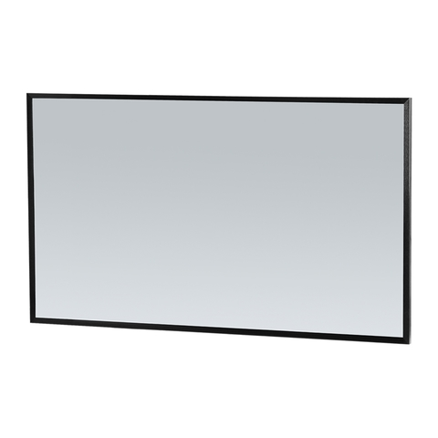 Bewonen Silhouette spiegel met aluminium frame zwart 120x70 cm