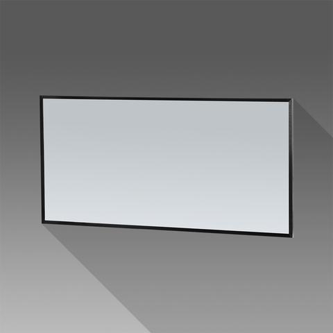 Bewonen Silhouette spiegel met aluminium frame zwart 139x70 cm