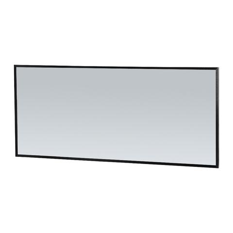Bewonen Silhouette spiegel met aluminium frame zwart 160x70 cm