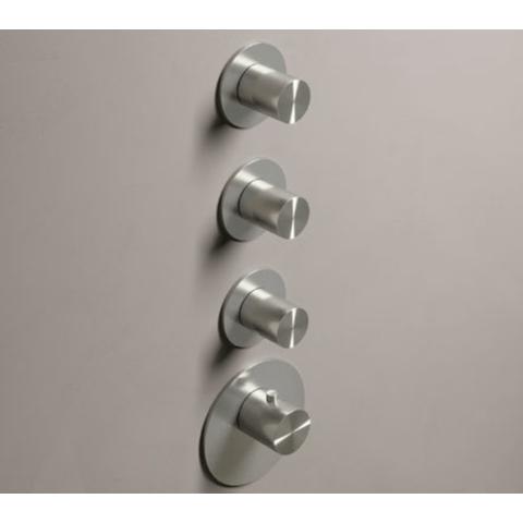 Hotbath Archie ARHF013 afbouwdeel voor inbouw thermostaat met 3 stopkranen RVS