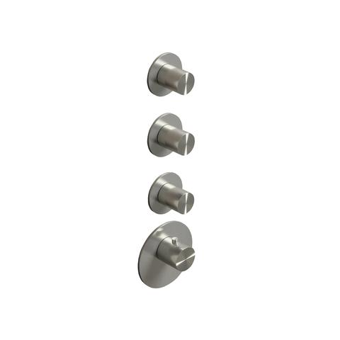Hotbath Archie ARHR3 Inbouwthermostaat met 3 stopkranen RVS 316