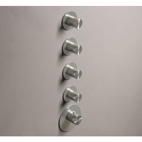 Hotbath Archie ARHF014 afbouwdeel voor inbouw thermostaat met 4 stopkranen RVS
