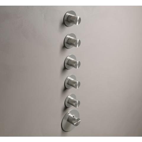 Hotbath Archie ARHF015 afbouwdeel voor inbouw thermostaat met 5 stopkranen RVS