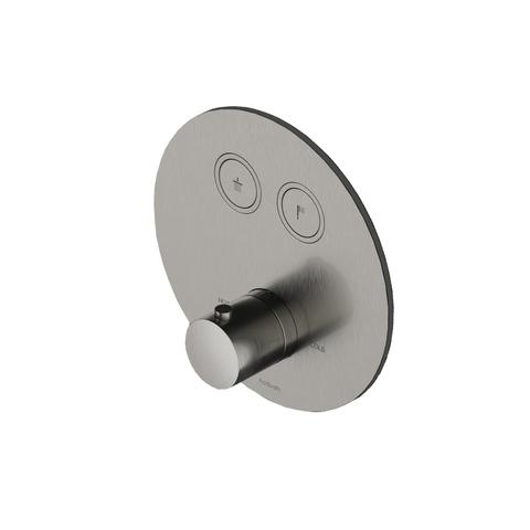 Hotbath Cobber PB009 inbouwthermostaat met 2 pushbuttons gepolijst messing