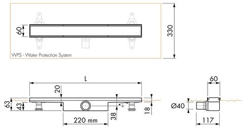 Easydrain Compact 30 FF douchegoot 100cm