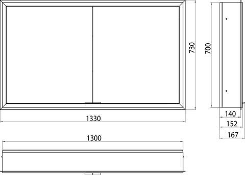 Emco Asis Prime led 130cm spiegelkast inbouw spiegel-aluminium