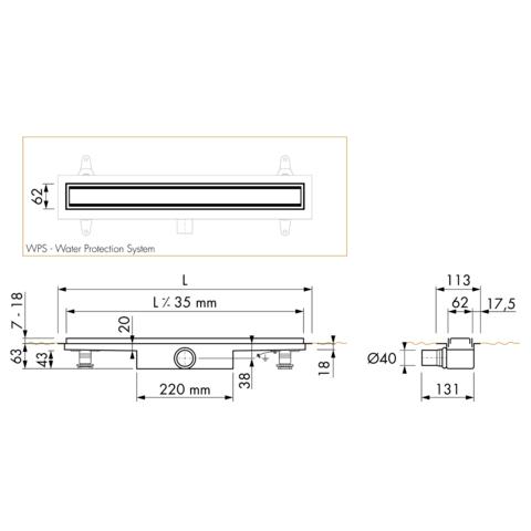 Easydrain Compact 30 TAF douchegoot 120cm