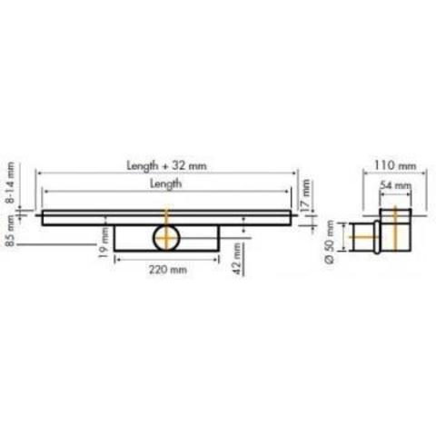 Easydrain Compact 50 TAF douchegoot 100cm