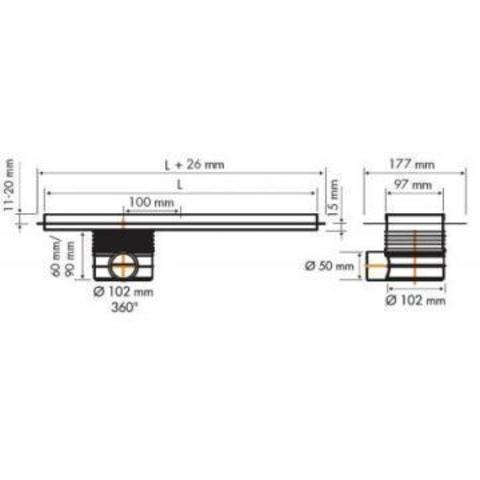 Easydrain Multi TAF douchegoot 190cm