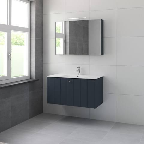 Bruynzeel Bino meubelset spk 100 cm. 1 kraangat oud blauw