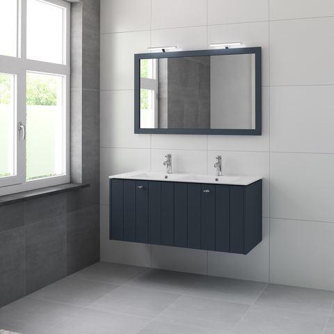 Bruynzeel Bino meubelset sp d 120 cm. 2xkraangat oud blauw