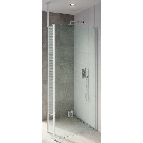 Bruynzeel Lector inloopdouche 110/33x210 cm. met plafondsteun aluminium/helder