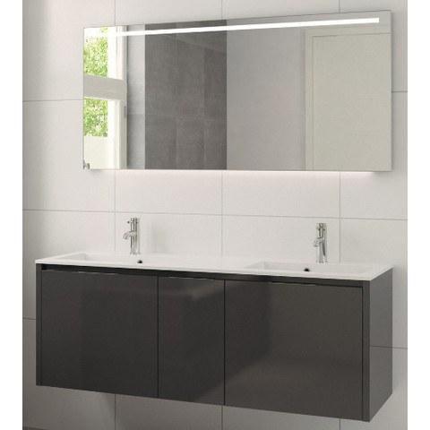 Bruynzeel Matera meubelset 150 cm.met spiegel met 2 wastafels grafiet
