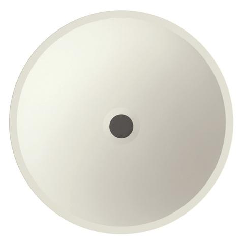 Bruynzeel Giro meubelwastafel rond 40 cm. zonder kraangat mat wit