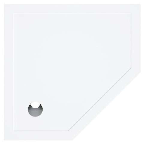 Bruynzeel  5-hoek douchebak 100 x 100 x 4 cm. wit