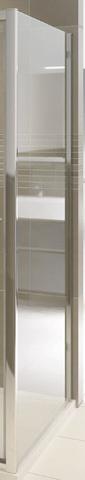 Bruynzeel Cilo zijwand vast 80 x 195 cm. zilver glans-helder glas