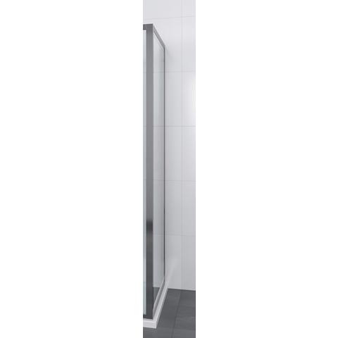 Bruynzeel Lector Ii zijwand 90 x 200 cm. matzilver-clean glas