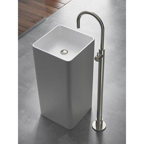 Hotbath Cobber CB078W wastafelmengkraan staand geborsteld messing PVD
