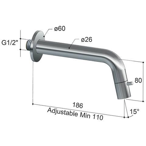 Hotbath Cobber/Dude UW001 wand fonteinkraan gepolijst messing PVD